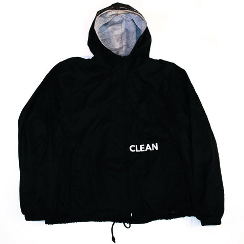 Hooded Logo Jacket Black