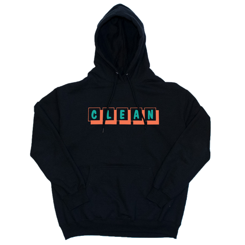 boxes logo embroidered hoodie black