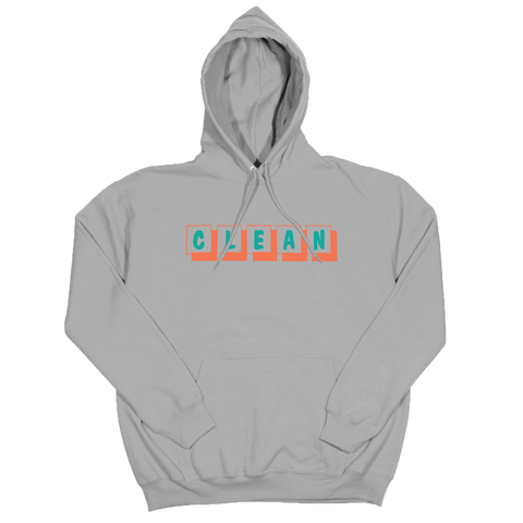 boxes logo embroidered hoodie grey