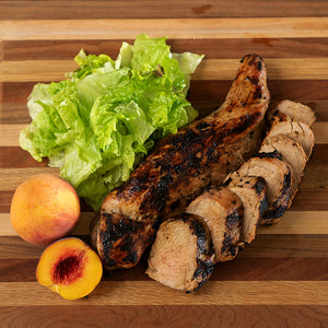 Citrus Pork Tenderloin with Mixed Greens & Peach Vinaigrette