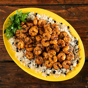 Creole Shrimp with Black Beans & Rice (6-8 servings)