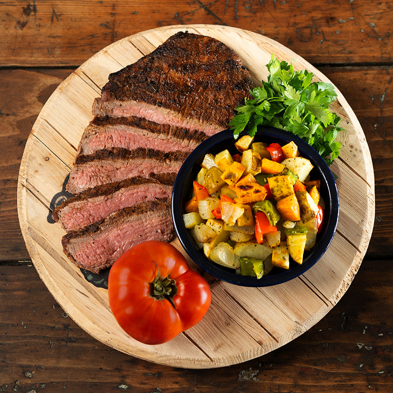 Spice-Rubbed Flank Steak with Tuscan Veggies (4-6 servings)