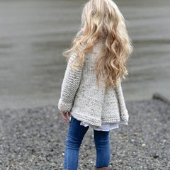 Grey Knitted Sweater Cardigan