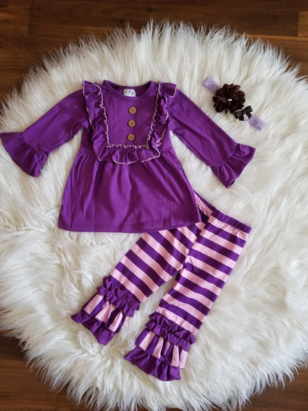 2 piece stripes outfit