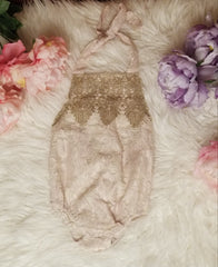 Beautiful lace accent onesie