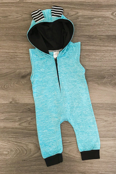 Blue Infant Romper