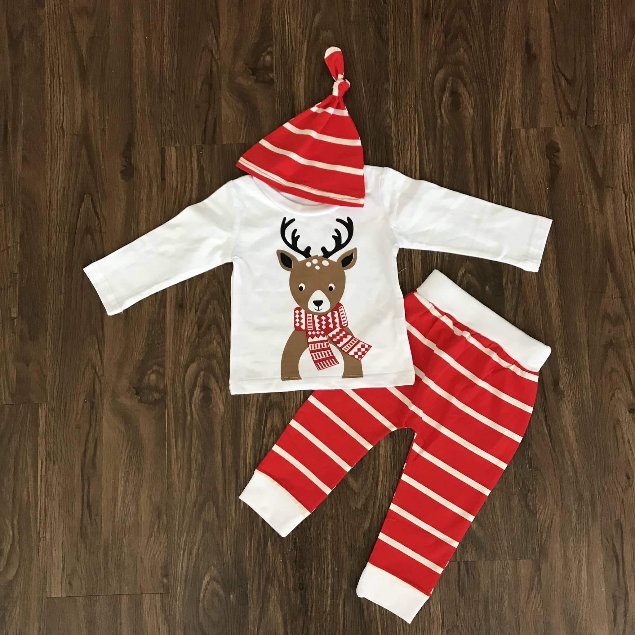 Reindeer Christmas 3 Piece Outfit Set