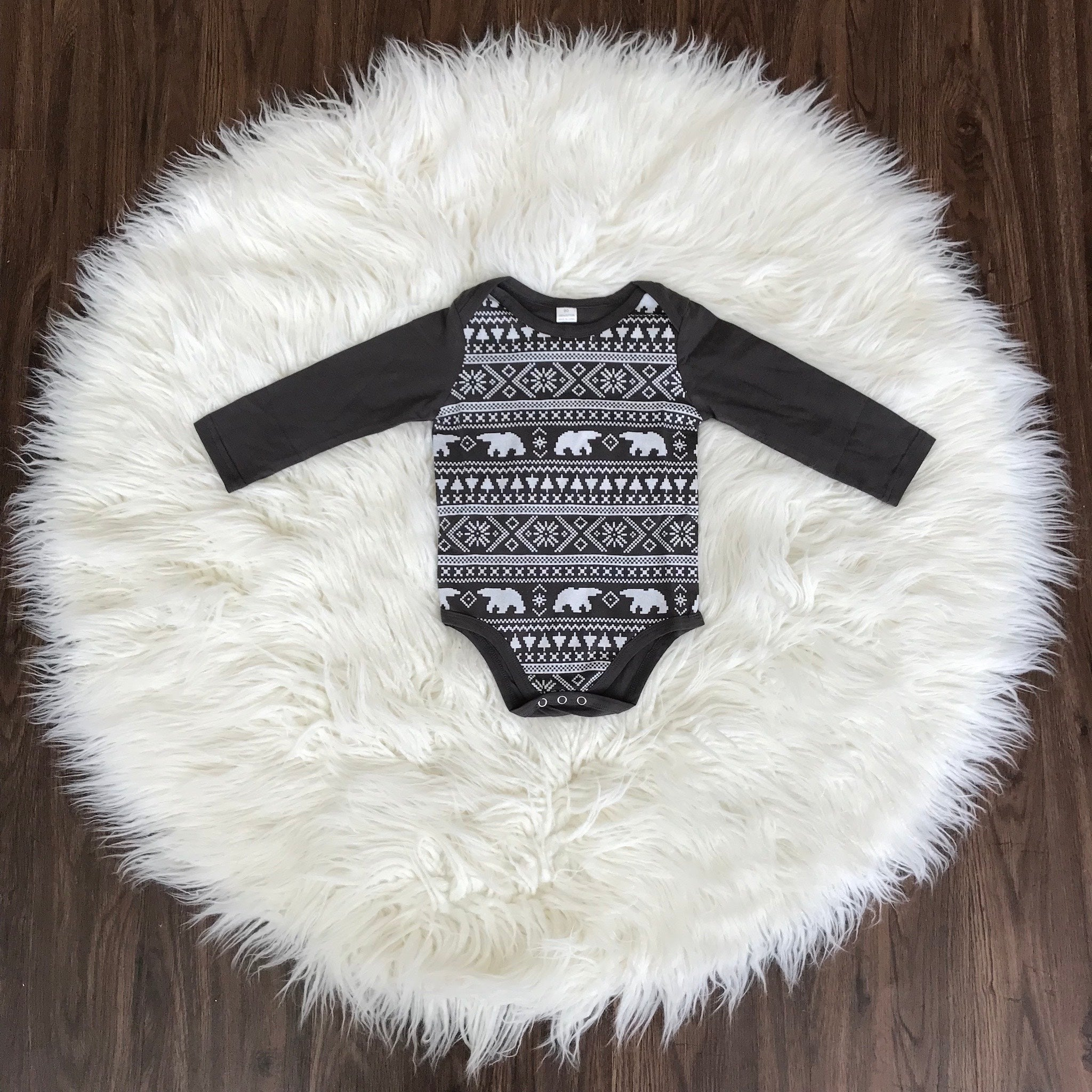 Beary Christmas Long Sleeve Onesie