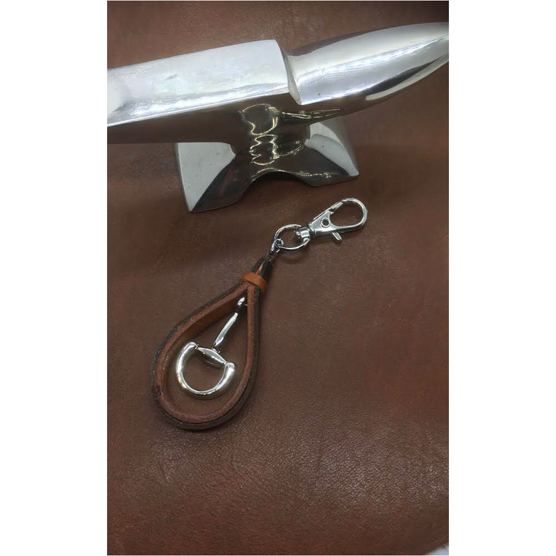 Half Bit leather Key Ring