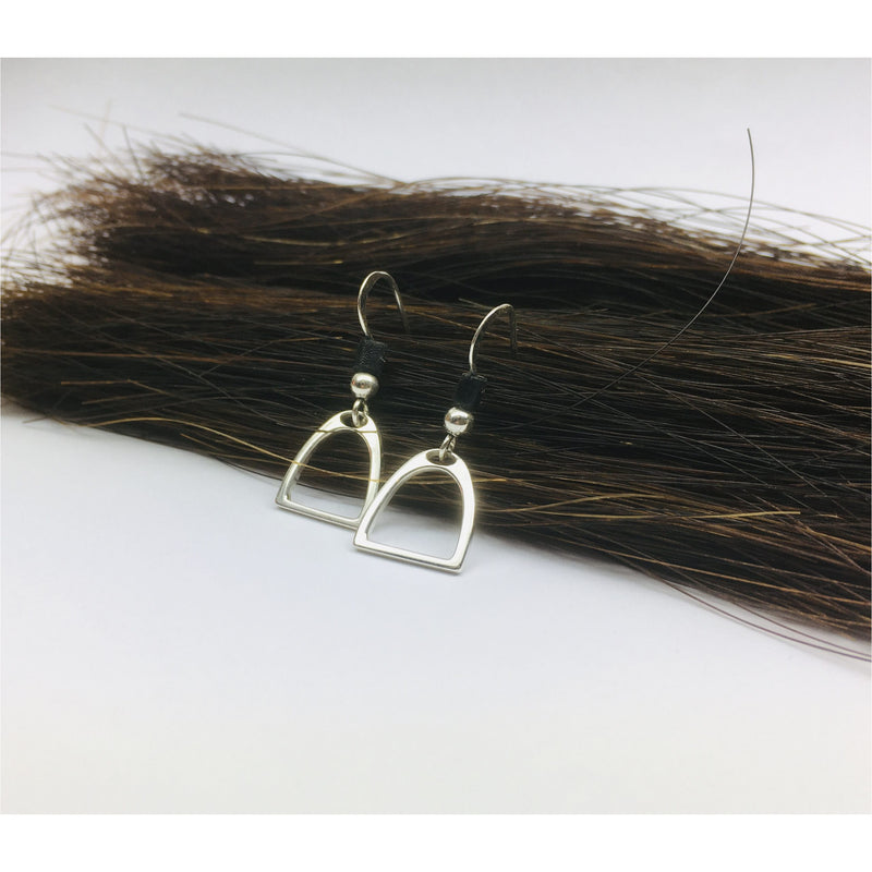 Sterling Silver Stirrup Drop Earrings