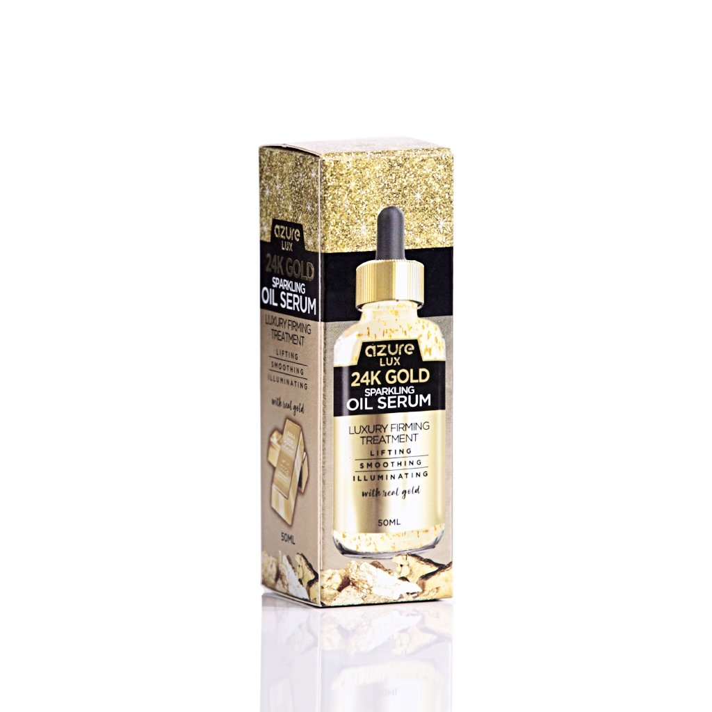 24K Gold Oil Serum with Collagen & Witch Hazel