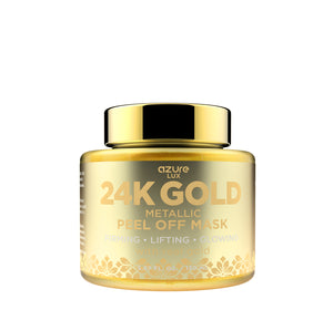 24K Gold Luxury Metallic Peel-Off Mask with Real Gold