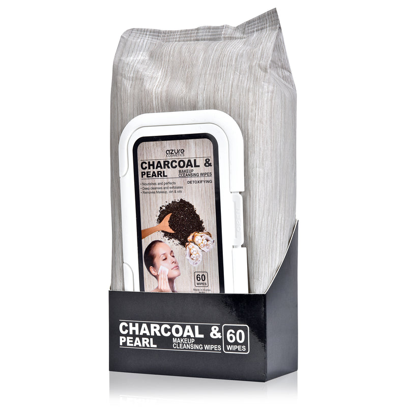 Charcoal & Pearl Facial Cleansing Wipes - 60 Wipes
