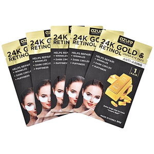 Retinol & 24K Gold Anti Aging Under Eye Pads