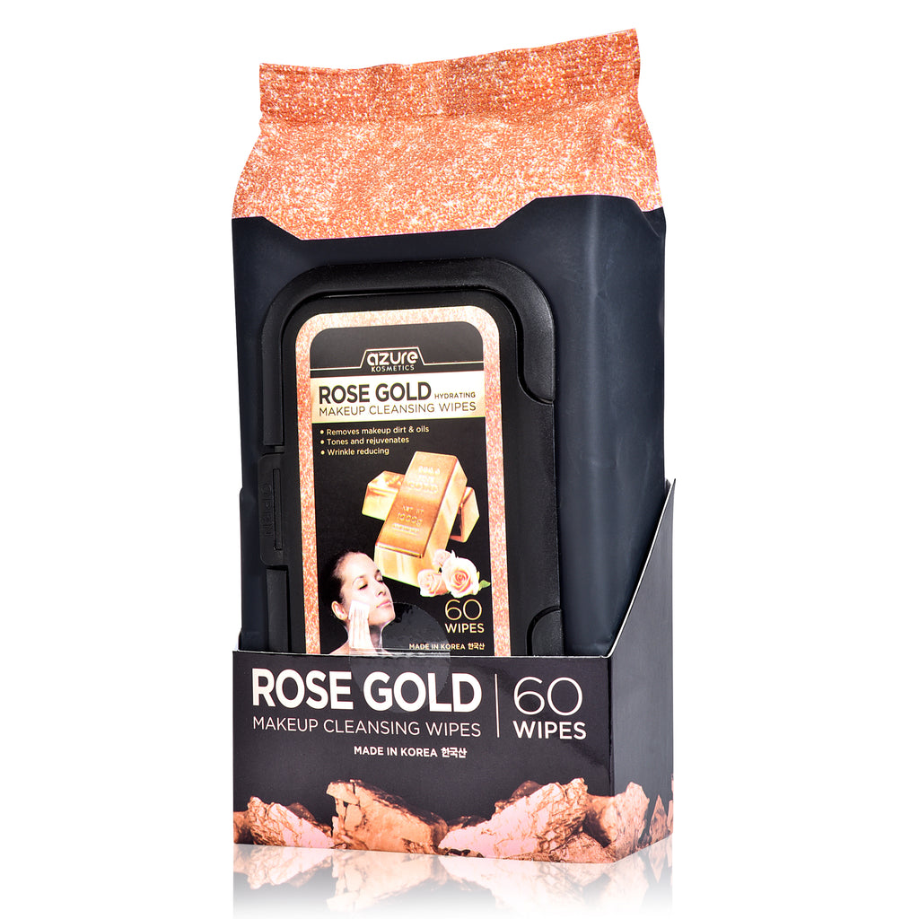 Hydrating Rose Gold Makeup Remover & Face Wipes