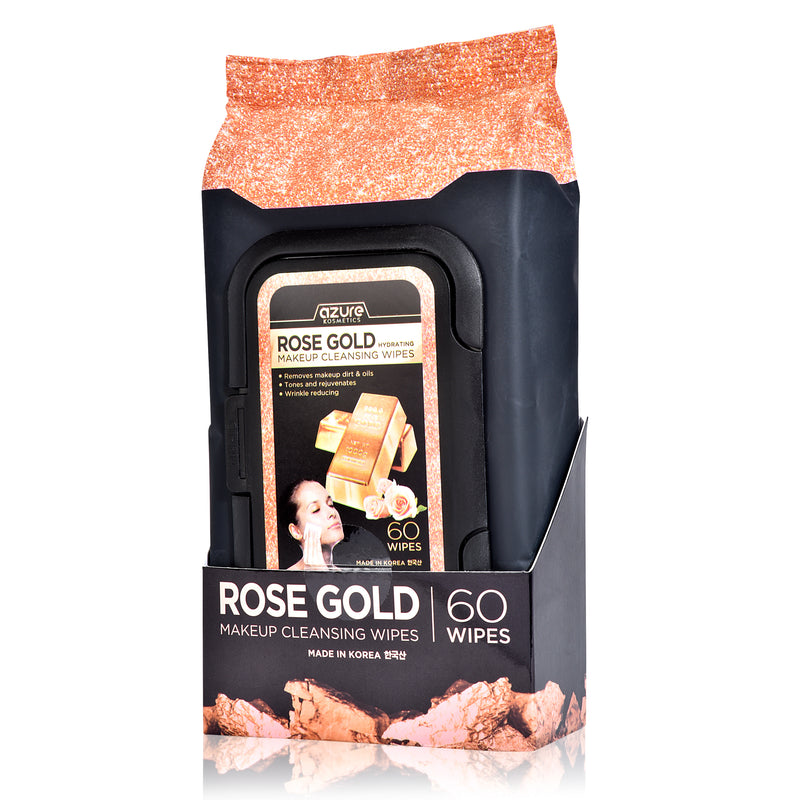 Rose Gold Luxury Cleansing Facial Wipes - 60 Count