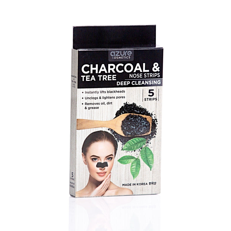 Charcoal and Tea Tree Deep Cleansing Nose Strips: 5 Pairs