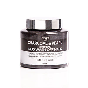 Charcoal and Pearl Detoxifying Sparkling Mud Wash-Off Mask