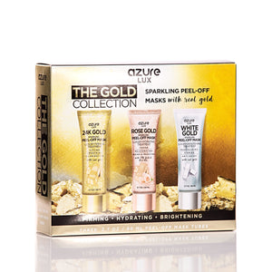 Lux 24K Gold & Rose Gold Peel Off Face Masks