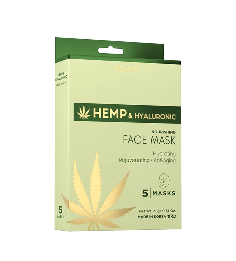 Hemp and Hyaluronic Acid Nourishing Facemask: 5 Pack
