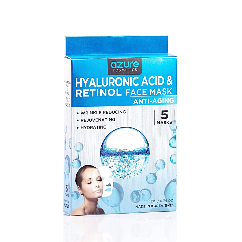 Hyaluronic Acid & Retinol Anti-Aging Face Mask