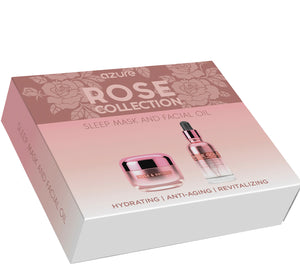 Rose Collection Gift Set: Sleep Mask and Facial Oil