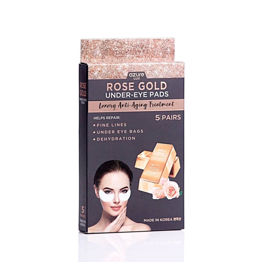 Rose Gold Luxury Anti-Aging Under Eye Pads: 5 Pairs
