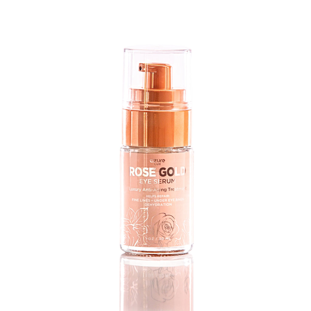Anti-Aging Eye Serum w/ Rose Gold & Hyaluronic Acid