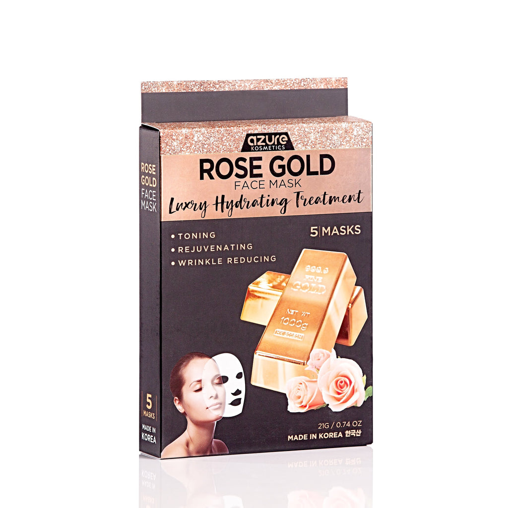 Rose Gold Luxury Hydrating Sheet Face Mask: 5 Pack