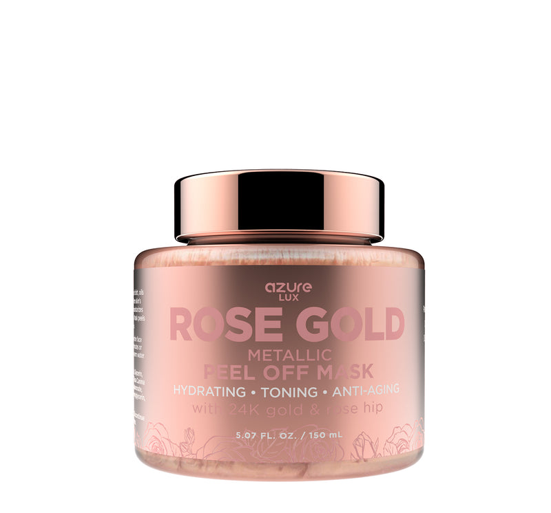 Rose Gold Luxury Metallic Peel Off Mask