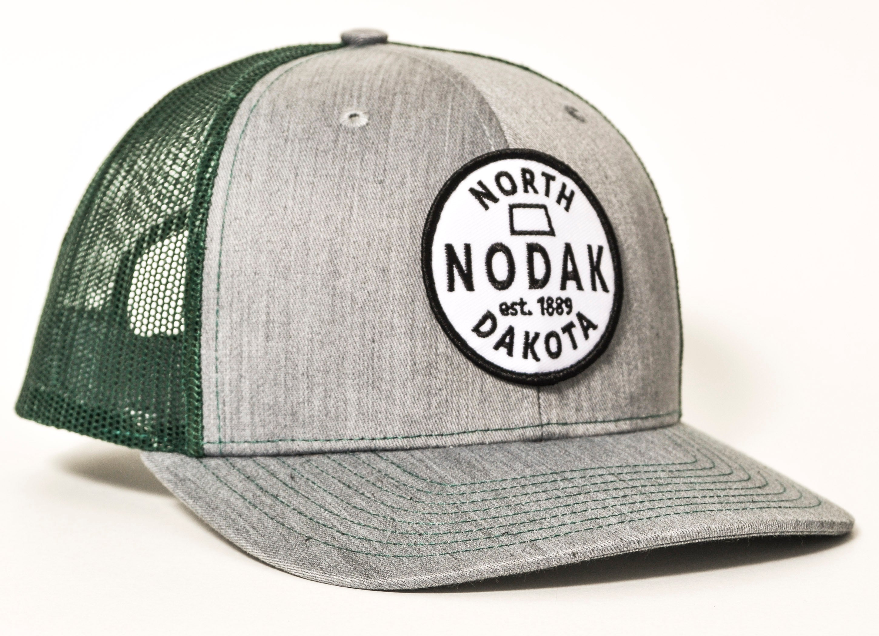 1889 NODAK TRUCKER (HEATHER GREY/DARK GREEN)