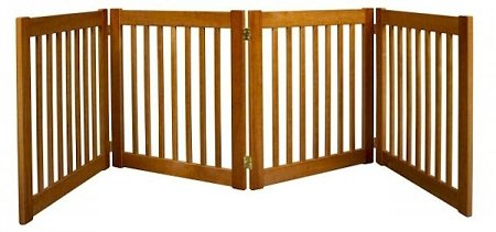 "27"" Highlander - 4 Panel Free Standing Wood Pet Gate - Artisan Bronze"
