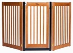 Dynamic Accents Walk Through 3 Panel Free Standing Pet Gate - Artisan Bronze