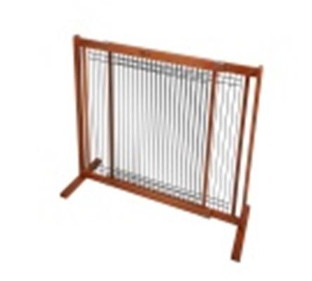 "30"" Kensington - Small Free Standing Wood/Wire Pet Gate - Artisan Bronze"