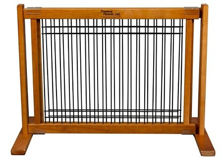 Amish Handcrafted KensingtonWood and Wire Free Standing Pet Gate