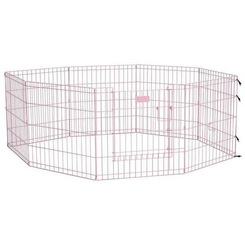 Midwest 524DRPK Life Stages Pet Exercise Pen with Full MAX Lock Door 8 Panels - PetGateCentral.com
