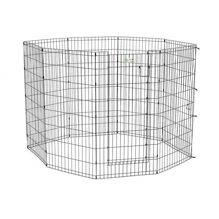 Midwest 524dr Life Stages Pet Exercise Pen With Door 8 Pa...