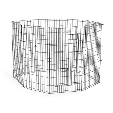 Midwest 524SDR Life Stages Pet Exercise Pen with Split Door - PetGateCentral.com
