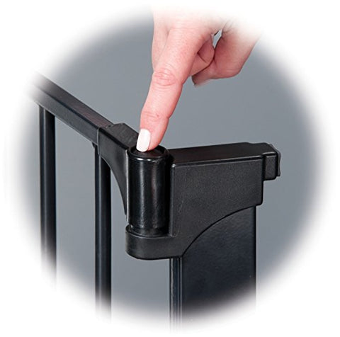 Kidco Tall Wide Auto Close Gateway Pressure Mounted Gate Black