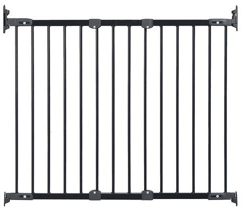 KidCo G2100 Safeway Black Wall Mount Stair Top Gate Angle Mount - PetGateCentral.com