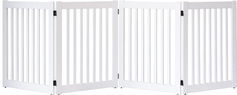 "Highlander Series Solid Wood Pet Gates are Handcrafted by Amish Craftsman - 32"" High - 4 Panel - White"