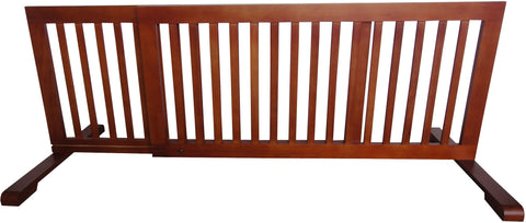 "MDOG2 Free Standing Step Over Gate - 39.8""-72"" - Light Oak - Peazz.com"