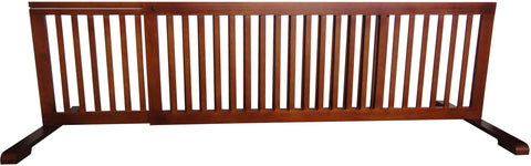 "MDOG2 Free Standing Pet Gate - 53""-103""L x 20""H x 21.6""D - Light Oak - PetGateCentral.com"