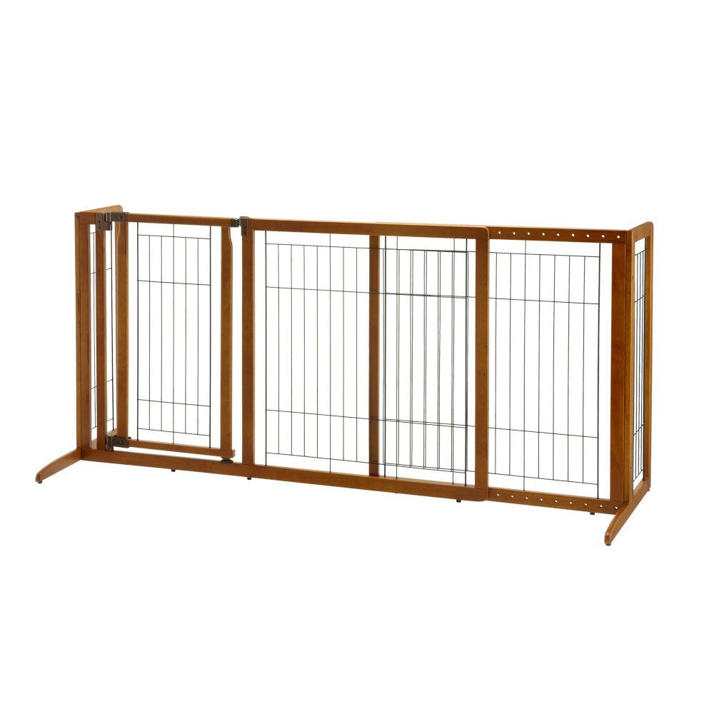 Richell R94189 Deluxe Freestanding Pet Gate With Door