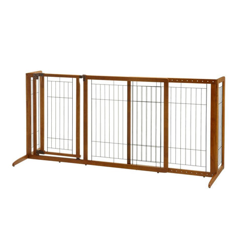 Richell R94189 Deluxe Freestanding Pet Gate with Door - PetGateCentral.com