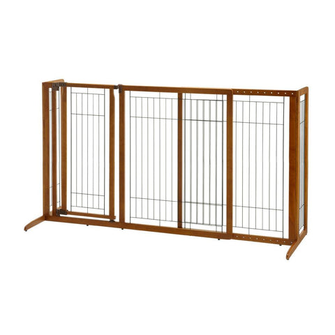 Richell R94190 Deluxe Freestanding Pet Gate with Door - PetGateCentral.com