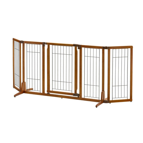 Richell R94904 Wide Premium Plus Freestanding Pet Gate with Door - PetGateCentral.com
