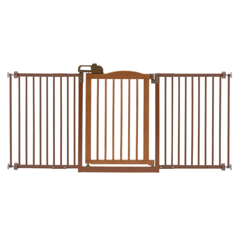 Richell R94932 One-Touch Wide Pressure Mounted Pet Gate II - PetGateCentral.com