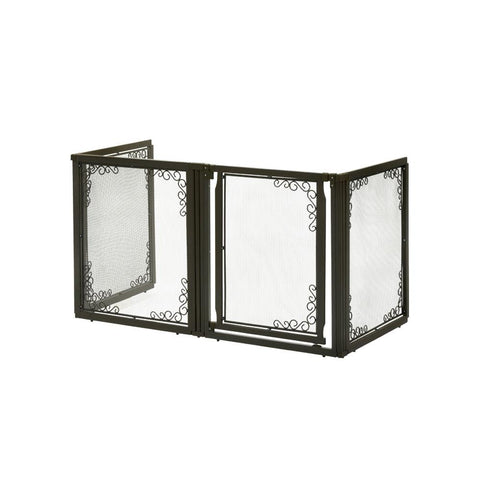 Richell R94936 Convertible Elite Mesh Pet Gate 4 Panels - PetGateCentral.com