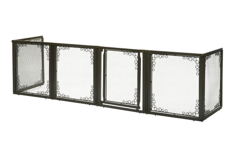 Richell R94937 Convertible Elite Mesh Pet Gate 6 Panels - PetGateCentral.com